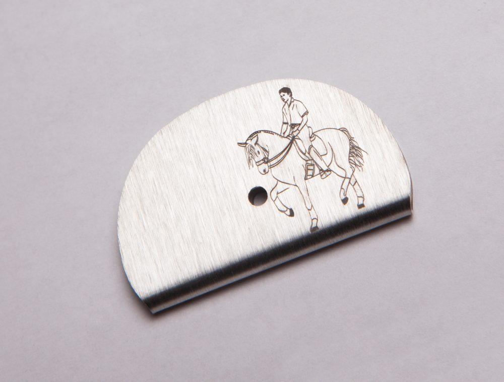Sifflet gravé équitation cheval avec son cavalier