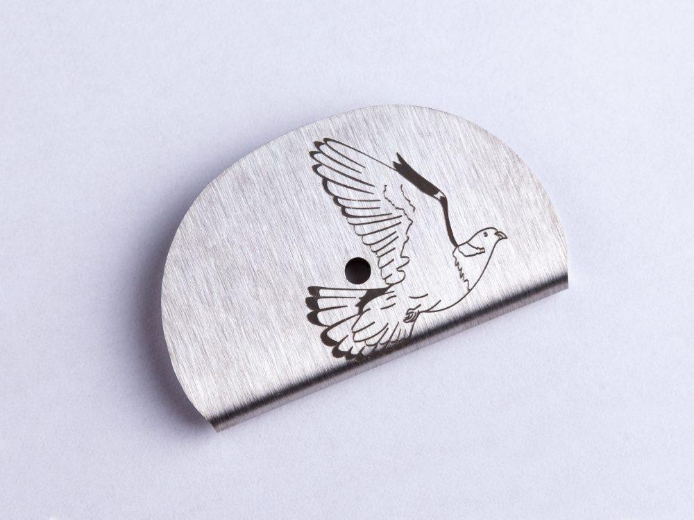 Sifflet gravé palombe - pigeon ramier