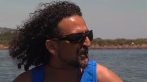 Gérard sur l'étang de Thau