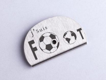 Sifflet gravé football